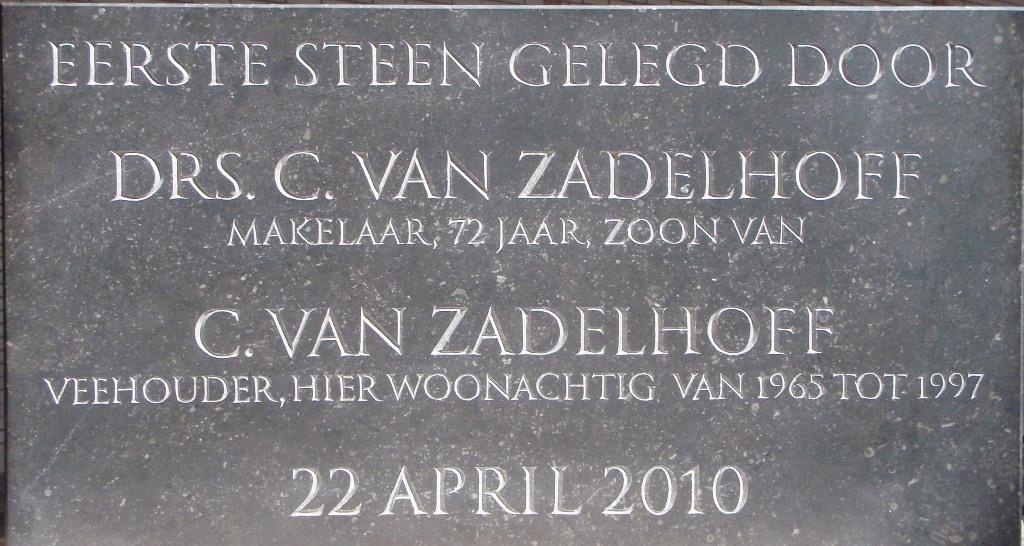 Eerste steen Zadelhof
