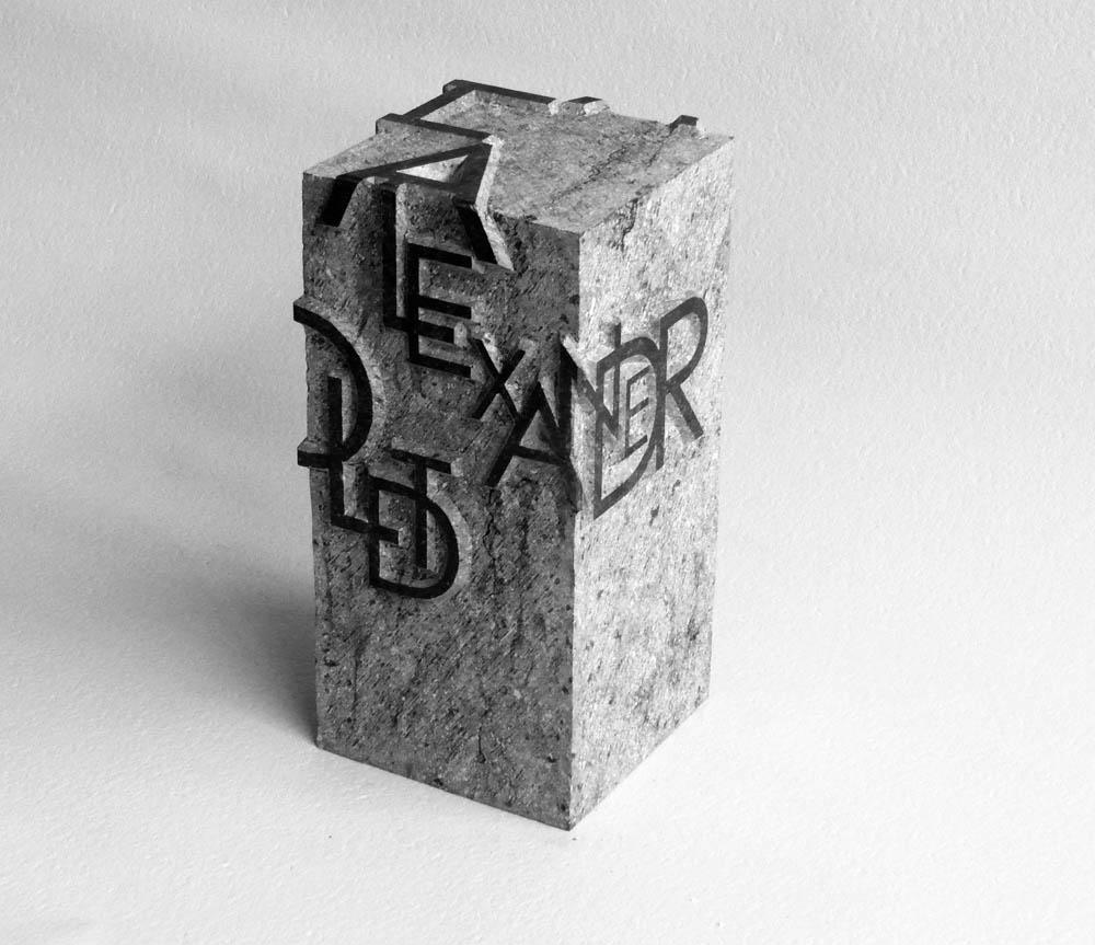 Handgemaakte urn uit Belgisch Hardsteen